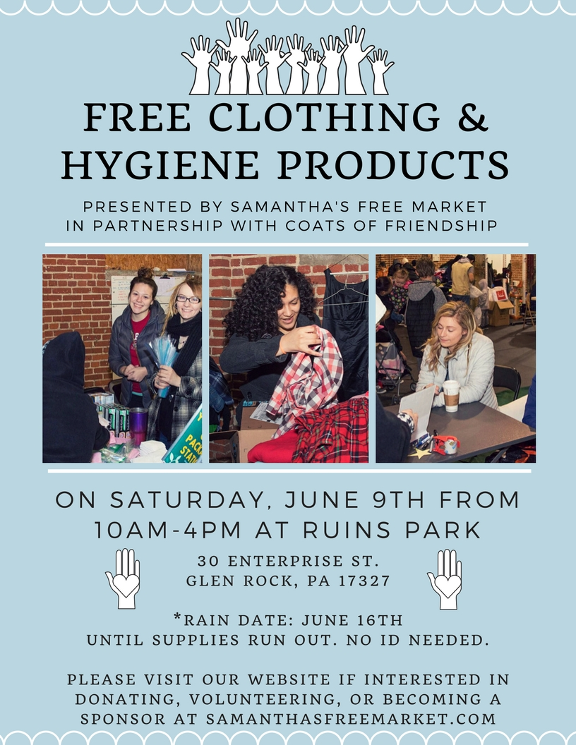 Free clothing & hygiene products-4